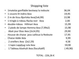chambre shopping